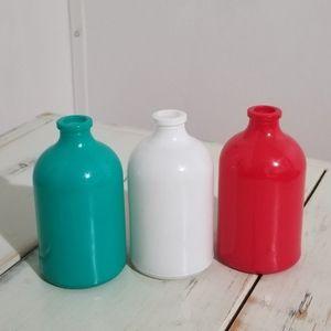 Home Decor 3-pc Colorful Vase Set